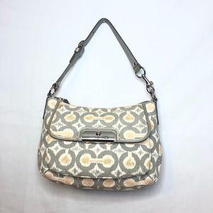 Coach Gray/Tan/Silver Mini Hobo Bag